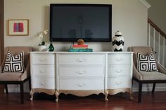 Gold Dipped TV Console