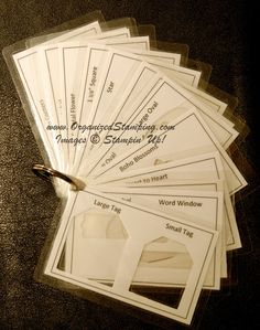 make a booklet to quickly see if a certain punch will be the right size, also keeps track of what punches you have