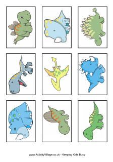 Dinosaur snap cards printable. Could do 'who am I?' Game with facts on back