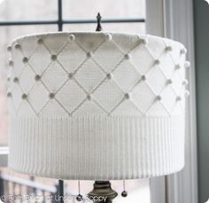 UPCYCLE DIY-Sweater-Lampshade-Tutorial-by-Unskinny-Boppy-www.unskinnyboppy.com-2 I love the idea of adding pattern and texture to a lampshade with a few simple cuts and some glue. It's amazing the changes you can make it a mere 20 minutes!