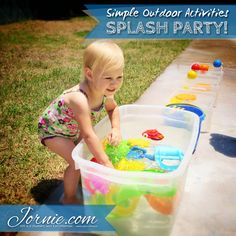 Simple Outdoor Activities - Splash Party! {Summer Series} // Lots of water fun for cooling off this summer!