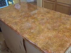 So Lovely Creations: Painted kitchen counter tops
