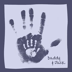 Daddy & Baby hand prints :) Should do this with both parents and put in the kids rooms.  So sweet