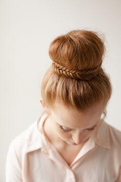 DIY: fishtail bun