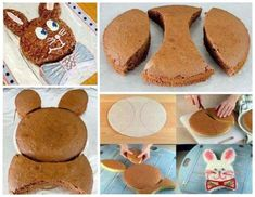 DIY Cute Easter Bunny Cake - Find Fun Art Projects to Do at Home and Arts and Crafts Ideas