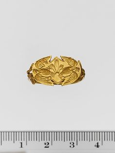 Gold ring  Period: Archaic Date: ca. late 6th–early 5th century B.C. Culture: Cypriot
