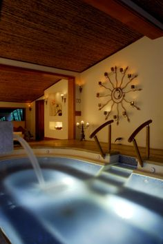 The Tabacon Grand Spa and Thermal Resort's spa experience starts with the hydrotherapy provided by the hot springs, fed by the Arenal Volcano.The Grand Spa's master therapists have created a menu of treatments. Try some of the local specialties like volcanic mud wraps, exfoliations with coffee, an Ayurvedic treatment, or an outdoor Watsu underwater massage. #worldsbesthotels2014
