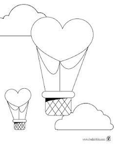 heart shaped hot air balloon template