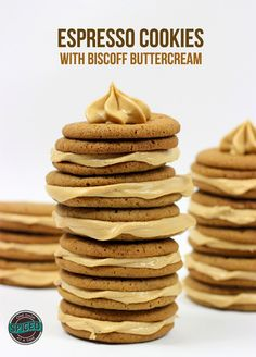 Espresso Cookies with Biscoff Buttercream | Spiced