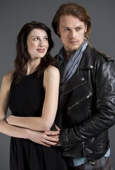 Caitriona Balfe and Sam heughan from the new series #outlander. Wow they are perfect!!