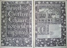 William Morris (1834-1896)  book design for Kelmscott Press  http://blogs.princeton.edu/graphicarts/2008/06/the_kelmscott_chaucer.html  http://www.graphic-design.com/typography/design/william-morris-art-nouveau-style  http://designhistory.org/ArtsCrafts.html