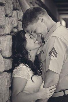 Military Engagement Shots :  wedding corps engagement idea