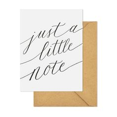 just a little note- set of 6 $16