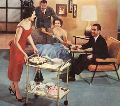 Entertaining, 1950s style.