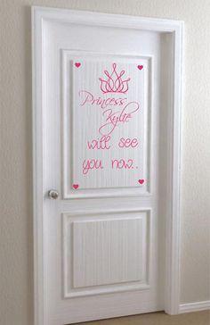 Girl Princess Saying Wall Decal Name Nursery Vinyl Sticker Decor. $18.00, via Etsy.