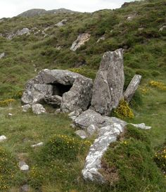 Prehistoric tomb near Ballynahinch Castle, Co. Galway, Ireland