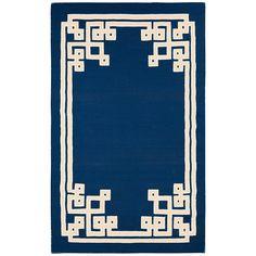 blue hand woven rug