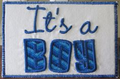 It's A Boy Fabric Postcard by fabricmom1 on Etsy, $5.99