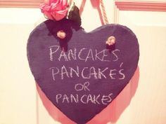 Pancake Tuesday black board heart