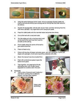 Sugarpaste Roses Tutorial Pg 4 of 4 by ingzthingz2010, via Flickr
