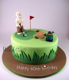 idea cake, golfbik cake, cake idea, golf cakes, partiesev idea