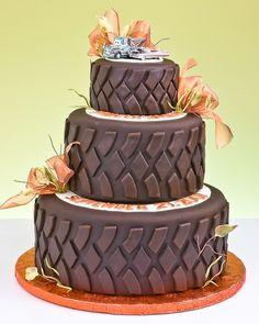Decorative tire cake