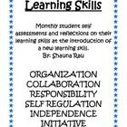 Ontario Learning Skills Self Reflection Package $