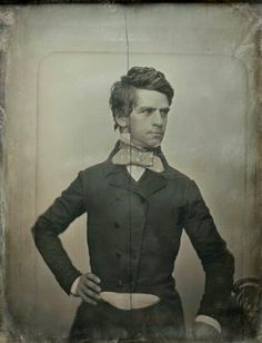 Nathaniel Prentice Banks, Massachusetts governor, member of the House of Representatives, Union General in the Civil War. He looks so dashing in this picture.