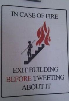 Salir antes que tuitear