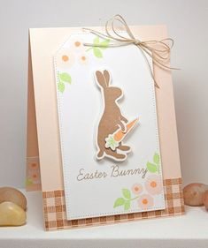 Easter Bunny, Textile Backgrounds, Easter Bunny Die-namics, Pierced Traditional Tag STAX - Lisa Johnson #mftstamps