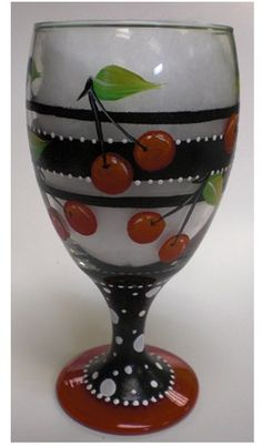 DIY painted wine glass. Directions plus helpful tips for painting glass.