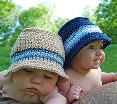 sewing machines, summer hats, sewing projects, buckets, hat patterns, baby hats, stripe, bucket hat, kid