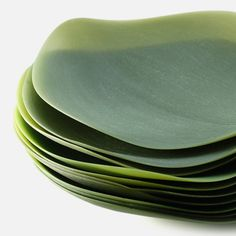 These silicone serving plates, byNao Tamura, are informed by the shape and role of theleaf within the culture of eating, in particular referencing rituals surrounding mealtime in her homeland of Japan