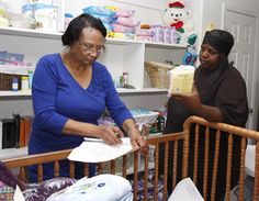 Zetas educate mothers at Stork's nest - Clarksdale Press Register:   Shirley A. Catchings, coordinator of the Stork's Nest Program for the Zeta Psi Zeta Chapter of Zeta Phi Beta Sorority, Inc., assists a client at the Zeta House