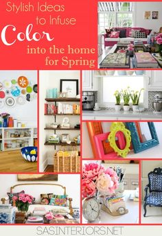 Stylish ideas to infuse color into your home for Spring via @Jenna_Burger, SASinteriors.net