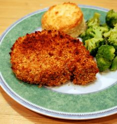 Crunchy Oven-Baked Pork Chops - this is a recipe adapted from an America Test Kitchen recipe.  It looks yummy!