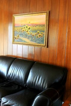 torn on painting wood paneling - Before & After painting wood paneling
