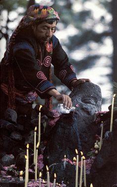 Highland Maya Shaman in Guatemala.