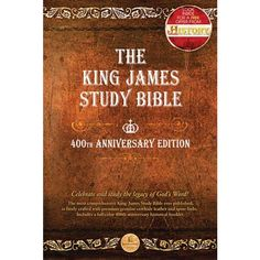 King James Study Bible - 400th Anniversary Edition (Thomas Nelson) - 400th Anniversary - KJV Bibles  I have this one too - one of my favorites.