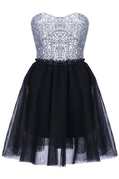 Bandeau Black Shift Dress