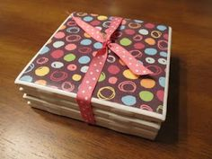 Scrapbook Coasters Tutorial