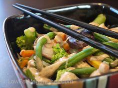Asian Vegetable Stir Fry in Tahini Sauce — Low Fat Vegan Chef Recipes