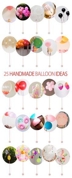 25 Ideas para hacer con globos