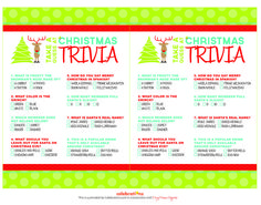 Free  Printable Christmas Trivia Games