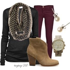 """""""chevron & booties"""" by taytay-268 on Polyvore"""