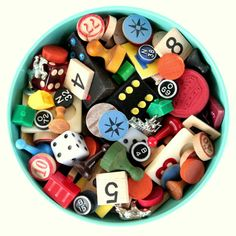 vintage game pieces