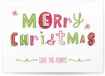 cheerful and merry holiday card