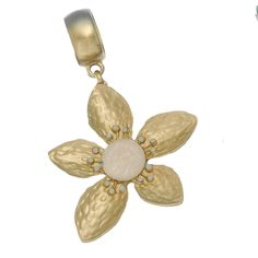 Get your Gold Flower Scarf Jewelry With Opalescent Center for only $12.90 along with all your other favorite scarf pendants.