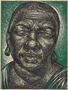 Charles White, Bessie Smith | Harvard Art Museums, linocut bessi smith, art museum, harvard art, museums, charl white, linocut