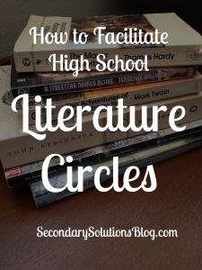 Literature Circles for High School Students! A great way to differentiate curriculum!